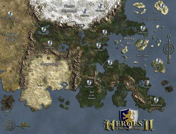 Enroth - miejsce wydarzeń dwóch pierwszych części Heroes oraz Might and Magic VI